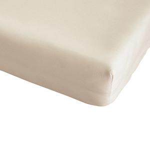 Microfleece-Spannbettlaken (150x200, beige)