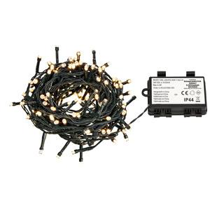 160er LED-Lichterkette mit Timer (batteriebetrieben)