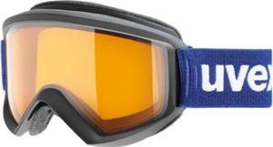 uvex Skibrille fire race black mat dl/lgl