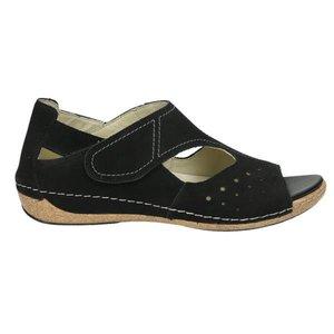 Damen Sandale, schwarz