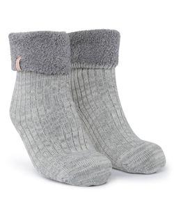 Hunkemöller 1 Paar Socken Cosy Rib Grau