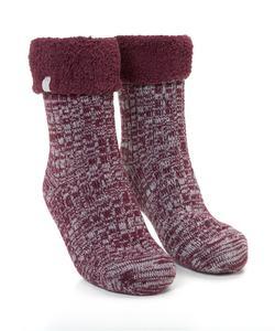 Hunkemöller 1 Paar Socken Cosy Rib Rot