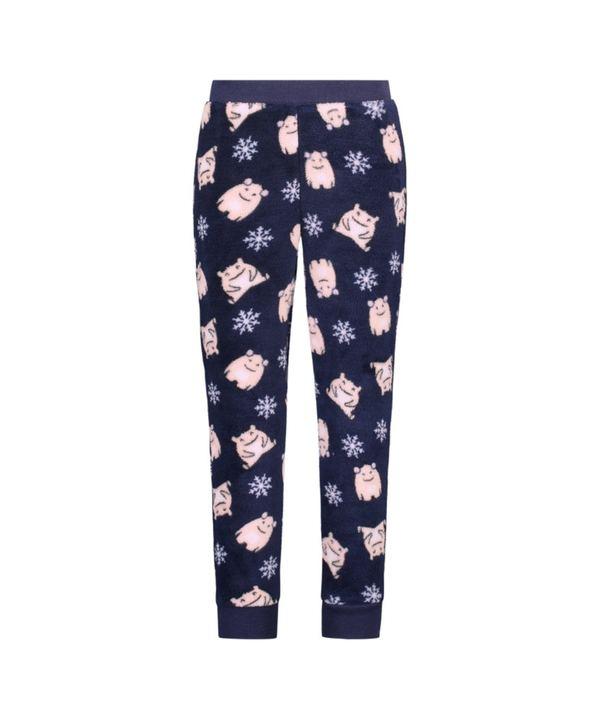 Hunkemöller Fleece-Pyjamahose Teens Blau