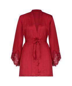 Hunkemöller Kimono Lace Satin Rot