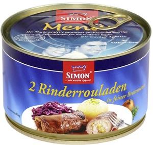 Simon 2 Rinderrouladen in pikanter Sauce 400 g
