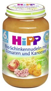 Hipp Bio Schinkennudeln mit Tomaten u. Karotten ab dem 6. Monat 190 g