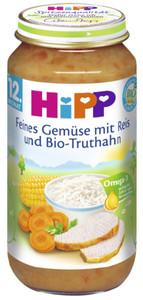 Hipp Bio Feines Gemüse mit Reis und Bio-Truthahn ab 12. Monat 250 g
