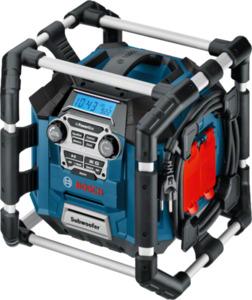 Bosch Baustellenradio GML 20 Professional ,  Betrieb mit 14,4 V und 18 V Bosch Li-Ionen Akkus möglich