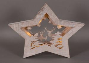 TrendLIne LED Holzsilhouette ,  Motiv Winterwald, weiss, für den Innenbereich