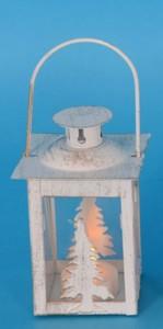 TrendLine LED Laterne Tannenbaum ,  weiss, für den Innenbereich