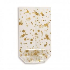 Zellglasbeutel gold bedruckt ,  115 x 190 mm