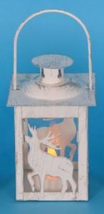 TrendLine LED Laterne ,  Motiv Rentier, für den Innenbereich
