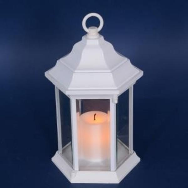 TrendLine LED Metall Laterne ,  weiss, Innen