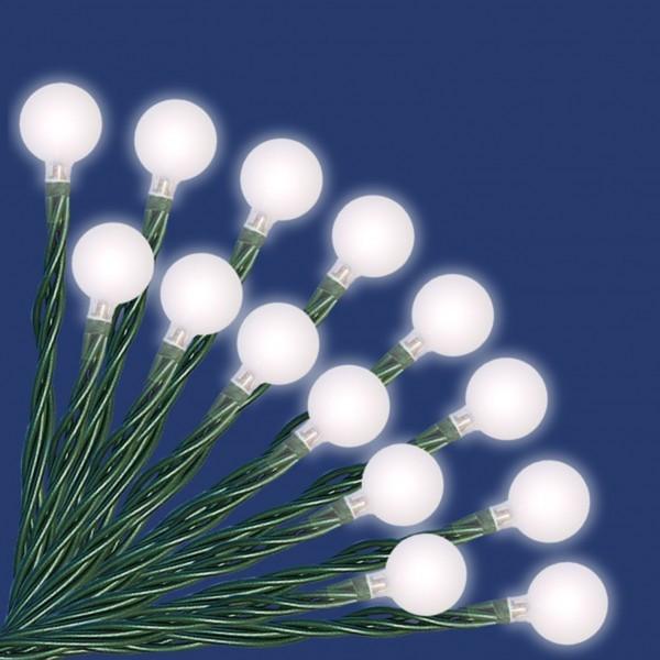 Trendline Led Lichterkette Mit 40 Kugeln Weiss Fur Aussen Geeignet