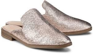 Metallic-Pantolette von Tamaris in rosa für Damen. Gr. 36,37,38,39