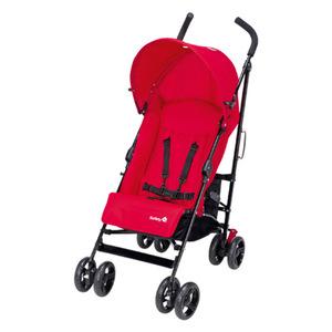 Safety 1st SLIM, Traditioneller Kinderwagen, 1 Sitz(e), Schwarz, Rot, Regenschirm, Aufblasbare Räder, 5-Punkt
