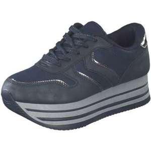 Claudia Ghizzani Plateau Sneaker Damen blau