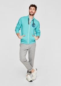 Sweatshirt-Jacke mit Print