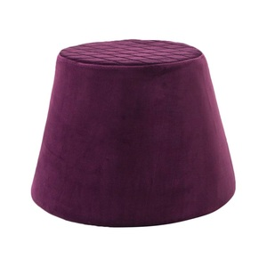 Hocker Samtbezug Violett ca. 46,5 x 33,5 cm