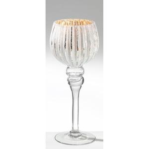 casaNOVA Windlicht H 30 FROZEN Silberfarbig/Weiß