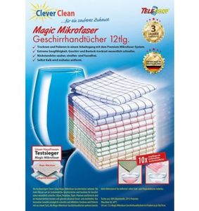 CleverClean®Magic Mikrofaser-Geschirrhandtücher (12tlg.)