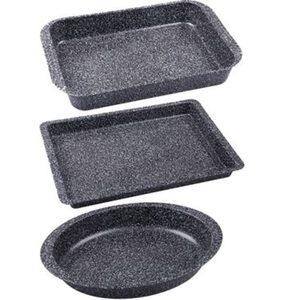CHG Auflaufformen »Granito«, Metall, (Set, 3 St), SkandiaXtrem Plus Antihaftbeschichtung