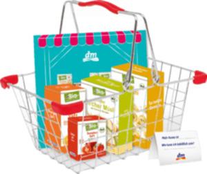 dmBio Bastelbogen mit Einkaufskörbchen für Kinder