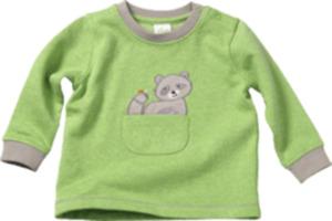 ALANA Baby-Sweatshirt, Gr. 80, in Bio-Baumwolle, grün, grau, für Mädchen und Jungen