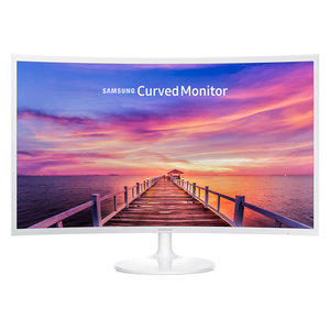 Samsung Curved Monitor C32F391FWU - 80 cm (32 Zoll), LED, Curved Monitor, VA-Panel, 4 ms, HDMI, weiß