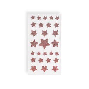 Stickerset Sterne, 27-teilig, altrosa