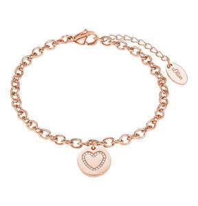 s.Oliver             Damen-Armband mit Herz-Anhänger IP ROSE,  Edelstahl 2020958