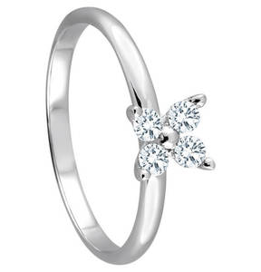 Moncara             Ring 585 Weißgold mit 4 Diamanten, zus. ca. 0,20 ct.