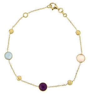 "TIETZIAN HÉRITIER             Armband ""Multi-Kristalle"", Quarzit, 375 Gelb"
