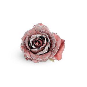 Rose auf Clip, D:10cm, bordeaux