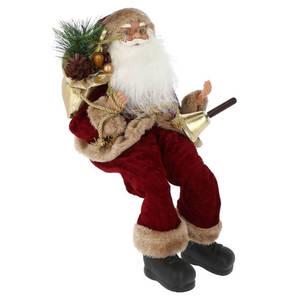"""GALERIA SELECTION             Weihnachtsfigur """"Weihnachtsmann"""", 38 cm, dunkelrot, sitzend"""