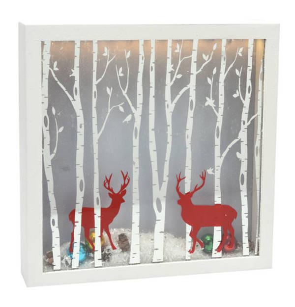 GALERIA SELECTION             Leucht-Rahmen, Weihnachten, Schnee, 25 x 25 cm