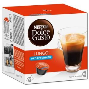 Nescafé Dolce Gusto Lungo decaffeinato entkoffeiniert | 16 Kaffeekapseln