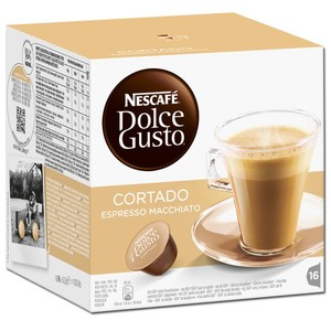 Nescafé Dolce Gusto Cortado Espresso Macchiato | 16 Portionen
