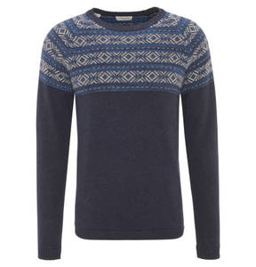 SELECTED             Strickpullover, Baumwolle, geometrisches Muster