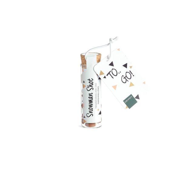 Schneemann Shot, Trinkschokolade mit Marshmallows, 15g