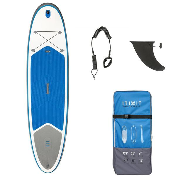 SUP-Board Stand Up Paddle aufblasbar 100 / 10'7 blau