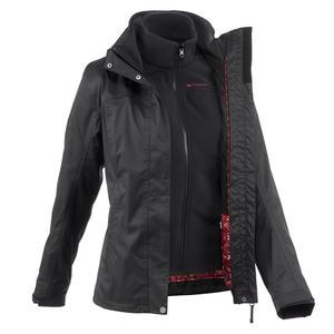 3-in-1-Jacke Rainwarm 100 Damen schwarz