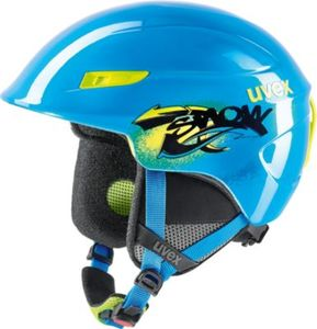Skihelm u-kid blue-lime 46-51 cm