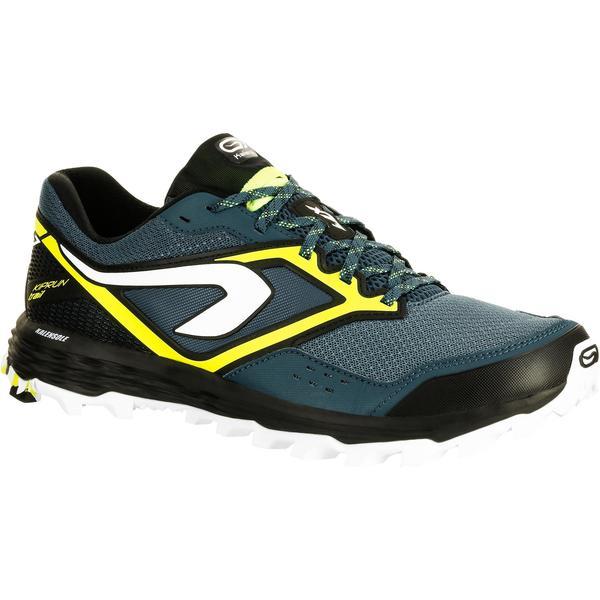 3b5e21a62133f0 Laufschuhe Trail Kiprun XT 7 Herren blau gelb von Decathlon ansehen ...