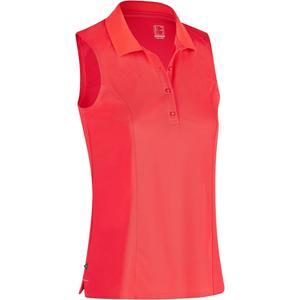 Golf Poloshirt 900 ärmellos Damen rot