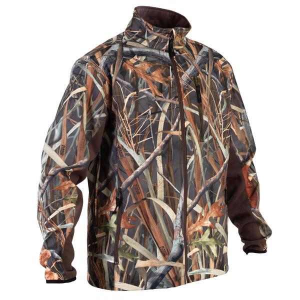 Jagd-Softshelljacke 500 Duck Camouflage Schilf