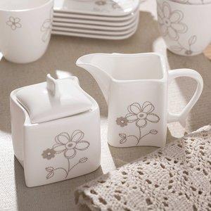 CreaTable Milch- und Zucker-Set   Ocean Blume 2tlg.