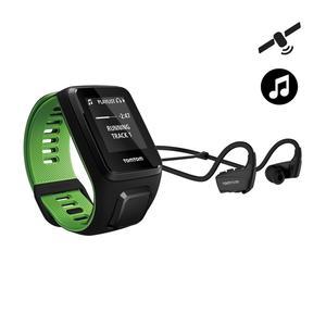 GPS-Pulsuhr Runner 3 Music + Headset L schwarz