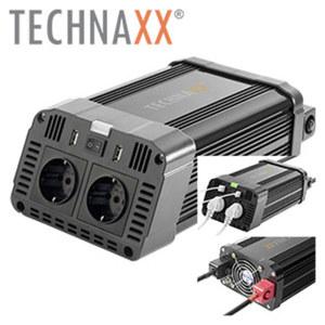 Wechselrichter TE16 zur mobilen Nutzung von Elektrogeräten, 12 V auf 230 V, automatische Abschaltung und Überlastschutz, eingebaute Ventilation, Maße: ca. H 10 x B 16 x T 29 cm