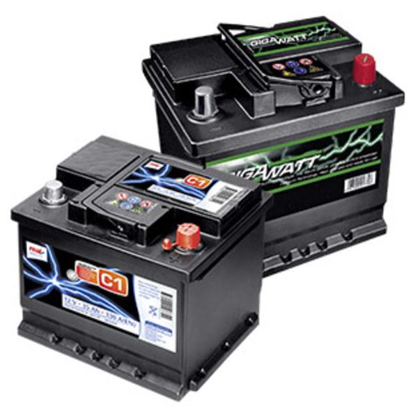 Starterbatterie für fast alle gängigen Fahrzeugtypen, 12 V 35 Ah - 12 V 95 Ah